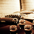 Classic Guitar Still Life With Notes Print by a driempixel photo