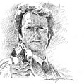 Clint Eastwood as Callahan Poster by David Lloyd Glover