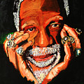 Cloud Eleven - Bill Russell Poster by Saheed Fawehinmi