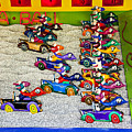 Clown car racing game Print by Garry Gay