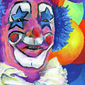 Clown with Balloons Poster by Stephen Anderson