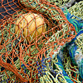 Colorful Nets and Float Print by Carol Leigh