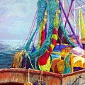 Colorful Nets Poster by Candy Mayer