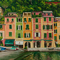 Colorful Portofino Poster by Charlotte Blanchard