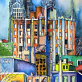 Columbus Ohio City Lights Print by Mindy Newman