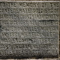 Confederate Solider Monument Print by Randy Bodkins