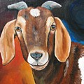 Contemporary Goat Print by Laura Carey