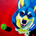 Corgi - Play Ball Poster by Alicia VanNoy Call