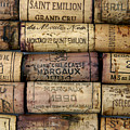 Corks of French wine Print by BERNARD JAUBERT