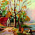 COTTAGE COUNTRY THE EASTERN TOWNSHIPS A ROMANTIC SUMMER LANDSCAPE Poster by CAROLE SPANDAU