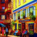 COURTYARD CAFES Poster by CAROLE SPANDAU