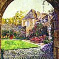 Courtyard Impressions Provence Poster by David Lloyd Glover