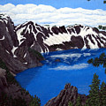 Crater Lake Print by Frederic Kohli