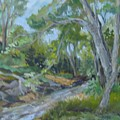 Creek at Linn Haven Print by Marilyn Masters