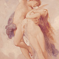 Cupid and Psyche Print by William Adolphe Bouguereau