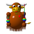 Cute Yak with Yo Yos Poster by Rose Santuci-Sofranko
