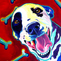 Dalmatian - Yum Poster by Alicia VanNoy Call