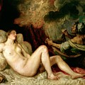 Danae Receiving the Shower of Gold Print by Titian
