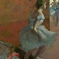 Dancers Ascending a Staircase Poster by Edgar Degas