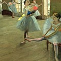Dancers in the Classroom Poster by Edgar Degas