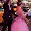 Dancing in Times Square Print by Vijay Sharon Govender