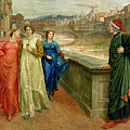 Dante and Beatrice Print by Henry Holiday