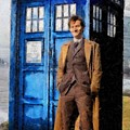 David Tennant as Doctor Who and Tardis by Elizabeth Coats