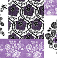 Deco Flower Patchwork 3 Poster by JQ Licensing