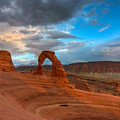 Delicate Arch Sunset Print by Jeff Clay