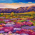 Desert in Bloom Print by JOHNATHAN HARRIS