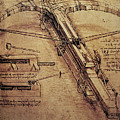 Design for a Giant Crossbow Print by Leonardo Da Vinci