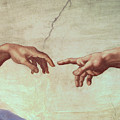Detail from The Creation of Adam Poster by Michelangelo