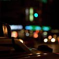 Detail Of A Taxi At Night, New York City, Usa Poster by Frederick Bass