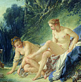 Diana getting out of her bath Print by Francois Boucher
