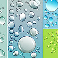 Different size droplets on colored surface Poster by Sandra Cunningham