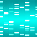 DNA cyan Print by Michael Tompsett