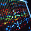 Dna Sequence On A Computer Monitor Screen Poster by Tek Image