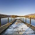 Dock In A Lake, Cumbria, England Poster by John Short