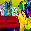 Dogs - Droolers Get The Floor Print by Alicia VanNoy Call
