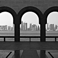 Doha Skyline From Museum Poster by Gregory T. Smith