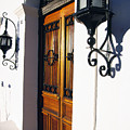 Door and Lamps Print by Thomas R Fletcher
