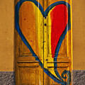 door with heart Print by Joana Kruse