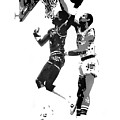 Dr. J and Kareem Print by Ferrel Cordle