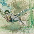 Dragonfly Print by Gustave Moreau