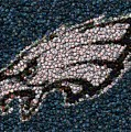 Eagles Bottle Cap Mosaic Print by Paul Van Scott