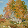 Early October Print by Willard Leroy Metcalf