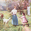 Easter Eggs in the Country Poster by Victor Gabriel Gilbert