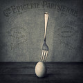 Egg and Fork Print by Ian Barber
