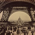 Eiffel Tower, View Toward The Central Poster by Everett