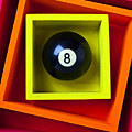 Eight Ball In Box Print by Garry Gay